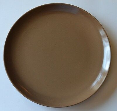 "Russell Wright Dinner Plate 10-1/8"" Casual Nutmeg Brown VGC"