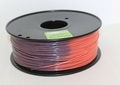 3D Printer Magic Heat Colour Change Filament - Purple to Orangey Pink  ABS PLA
