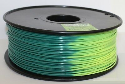 3D Printer Magic Heat Colour Change Filament - Dark to Light Green - ABS & PLA