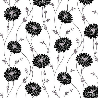 Dolls House Wallpaper 1/12th 1/24th scale Black & White Quality Paper #161