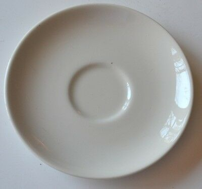"""Russell Wright saucer 3-3/4"""" Casual sugar white Iroquois VGC"""