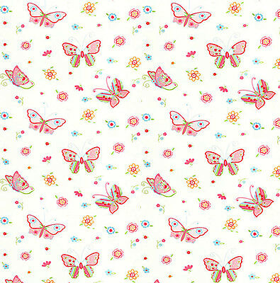 Dolls House Wallpaper 1/12th 1/24th scale Pink Butterflies Quality Paper #156