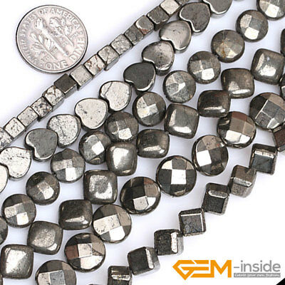 """Wholesale Lot Assorted Shapes Natural Pyrite Beads For Jewelry Making 15""""Strand"""