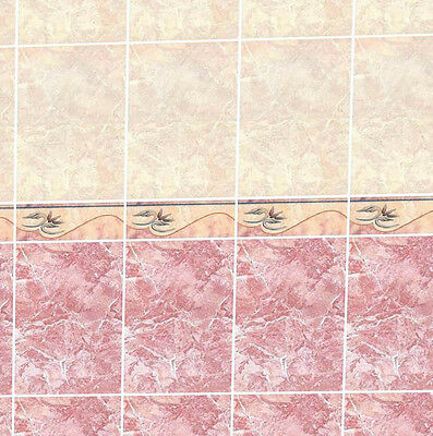 Dolls House Wallpaper 1/12th 1/24th scale Bathroom Quality Paper #06T