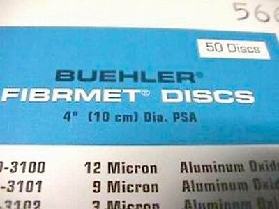 "50 Buehler 69-3101 Fibrmet Discs 4"" Diameter 9 Micron for Fiber Optic Polishing"