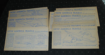 Lot of (26) 1940's How America Travels by Nabisco Shredded Wheat-EX/MT