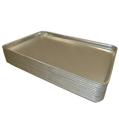 NEW 12PCS ALUMINIUM OVEN BAKING PAN COOKING TRAY BAKERS GASTRONORM TROLLEY 600mm