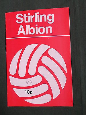 STIRLING ALBION  vs  DUNDEE - 1977/78
