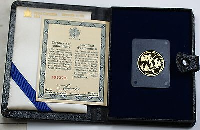 1978 Canada 1/2 Oz Gold 100 Dollar Beautiful Proof Coin - In Presentation Case