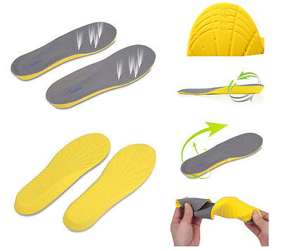 FootSoothers™ Sole Memory  Orthotic Arch Support Insoles Shock Absorption