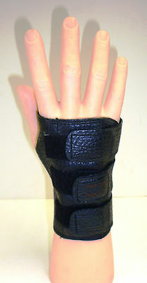 Small Medium Large BLACK Bowlers Bowling Wrister Wrist Support  Right Hand Glove