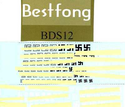 Bestfong Decals GERMAN WWII TAIL MARKINGS
