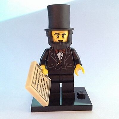 NEW Lego MOVIE Abraham Lincoln Minifig FROM THE LEGO MOVIE 71004