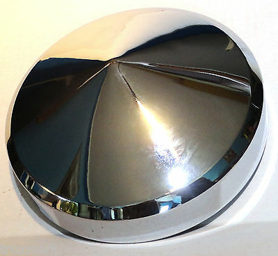 """horn cover 5-1/2"""" to 6"""" bell size pointed cone chrome for Kenworth Peterbilt FL"""