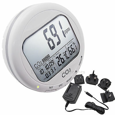 Desktop LCD Carbon Dioxide CO2 Indoor Air Quality Monitor Thermometer Hygrometer