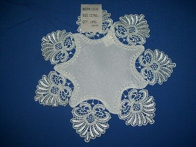 New stunning HIGH QUALITY Ivory LACE border design table linen sets 20MORE SIZES