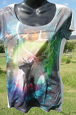 STAG T-SHIRT Goth Wicca Pagan Witch Goth Occult New Age