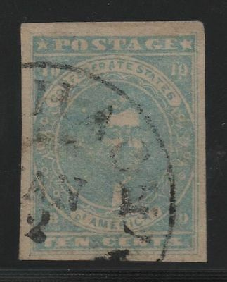 CSA Scott #2e Stone Y Confederate Stamp
