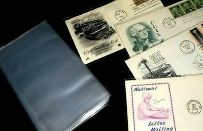100 First Day Cover Sleeves Protectors Archival Safe Free Shipping