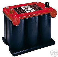 Optima Red top Battery 75/35 Dual terminal   NEW