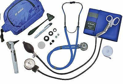 Blood Pressure Kit, with Otoscope, Stethoscope, Scissor, Penlight and Much More!