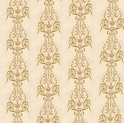Dolls House Wallpaper 1/12th 1/24th scale Beige Quality Paper #24