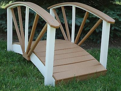 Lawn & Garden Landscape Bridge made from Poly Lumber (Decorative Lawn Ornament)