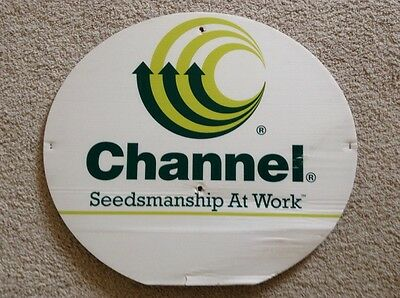 Channel Seed Corn Dealer Field Sign Authentic Man Cave Barn