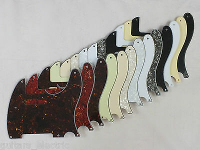 SCRATCH PLATE Pickguard to fit 5 hole USA/Mex 50's TELECASTER Tele in 12 Colours
