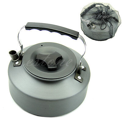 Survival Camping Outdoor Portable Coffee Pot Water Kettle Teapot Aluminum 1.1L