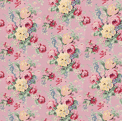 Dolls House Wallpaper 1/12th 1/24th scale Pink Quality Paper #121
