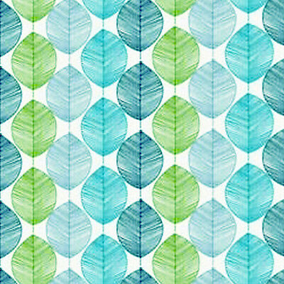 Dolls House Wallpaper 1/12th 1/24th scale Blue Green Quality Paper #213