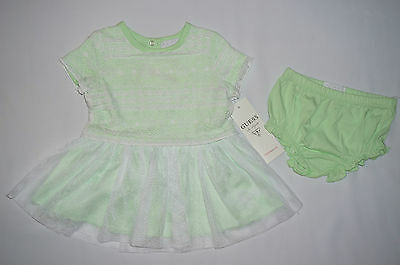 NWT GUESS 2pc set infant GIRL size 6-9M light green, white