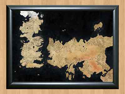 GAME OF THRONES ~ WESTE MAP TV George R Martin Seven Kingdoms A4 Print Poster