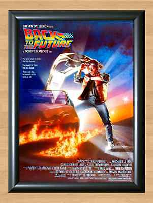 Back to the Future Movie A4 Poster Art Print Michael J Fox Picture Wall Home
