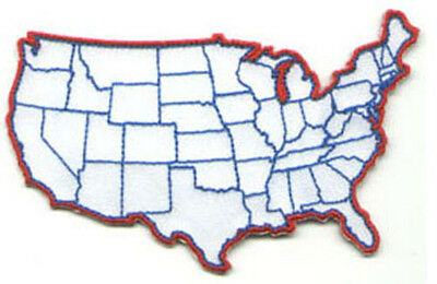 Embroidered U.S. Map Patch - Small