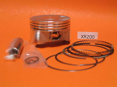 Piston 65.5 +0.25mm Rings Wrist Pin Clips  Honda XR 200 Compression Height 22mm