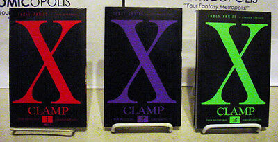 X  Vol's #1, 2 & 3 -- USED! Original Japanese Manga by CLAMP