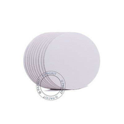 "25 x Cake Boards Round White 10"" Decoration Displays FREE SHIPPING"