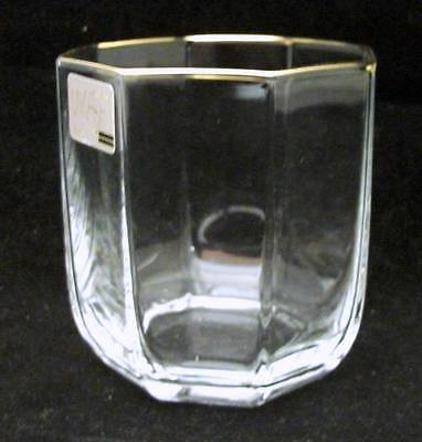 Mikasa CRYSTAL TRIUMPH GOLD Double Old Fashioned MINT NEVER USED w/mfg tag