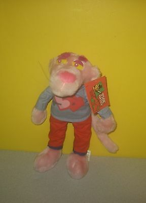 "New United Artists 10"" Pink Panther Stuffed Plush Cartoon Pal in Heart Outfit"