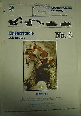 ORTHAUS H 31 LC EINSATZSTUDIE JOB - REPORT No. 61/82  SALES BROCHURE DEUTSCH