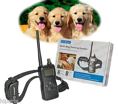 USA Waterproof Remote Dog Training Shock TWO  Collar Rechargeable for 15-120LB