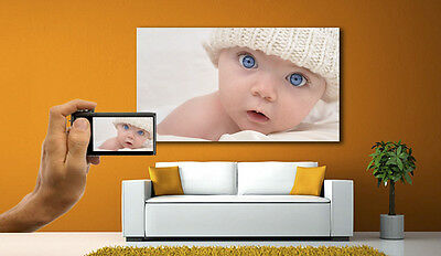 Your PERSONALISED Photo Picture On Canvas Print - Box Framed Large  A1 A0