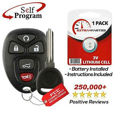 New Replacement Keyless Entry Remote Car Fob Alarm for 15913415 w/ Chip Plus Key