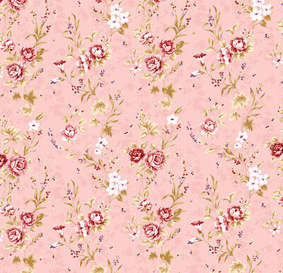 Dolls House Wallpaper 1//12th 1//24th scale Pink  Quality Paper #79