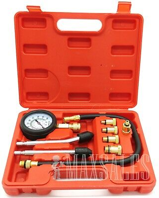 NEW 9Pc Spark Plug Cylinder Compression Tester Test Kit Professional Gas Engine