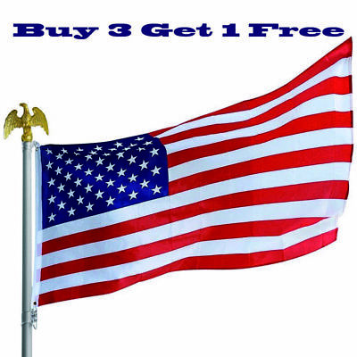 3'x 5' FT USA AMERICAN FLAG UNITED STATES STARS STRIPES BRASS GROMMETS