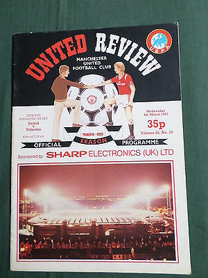 Manchester United - Videoton - Uefa Cup 4Th Round