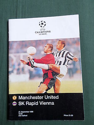 MANCHESTER UNITED vs SK RAPID VIENNA - EUROPEAN CHAMPIONS LEAGUE 1996